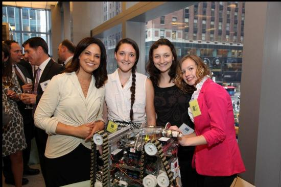 Soledad O'Brien visits the Techno Chix robotics demonstration at the 2012 Leadership and Service in Technology Award Reception.