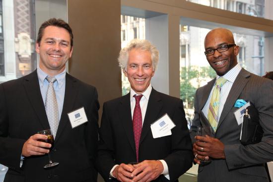 Corporate executives enjoy the Award Reception.